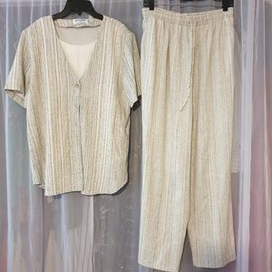 Alfred Dunner set 2 pieces pants and blouse (R)